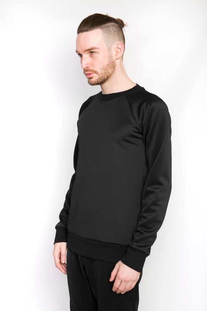 Image of Ⅲ Neoprene Black Zip Sweater