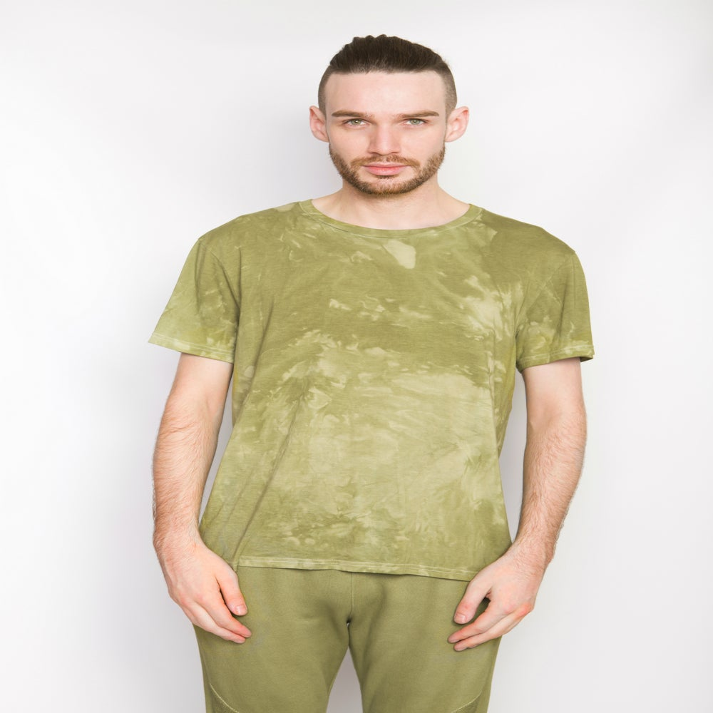 Basic Patch Olive Green T Shirt Arsalan
