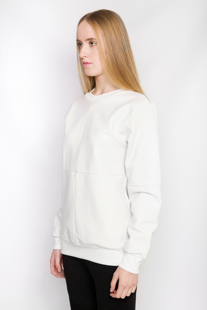 Image of Ⅲ W Napa Leather Sweater W