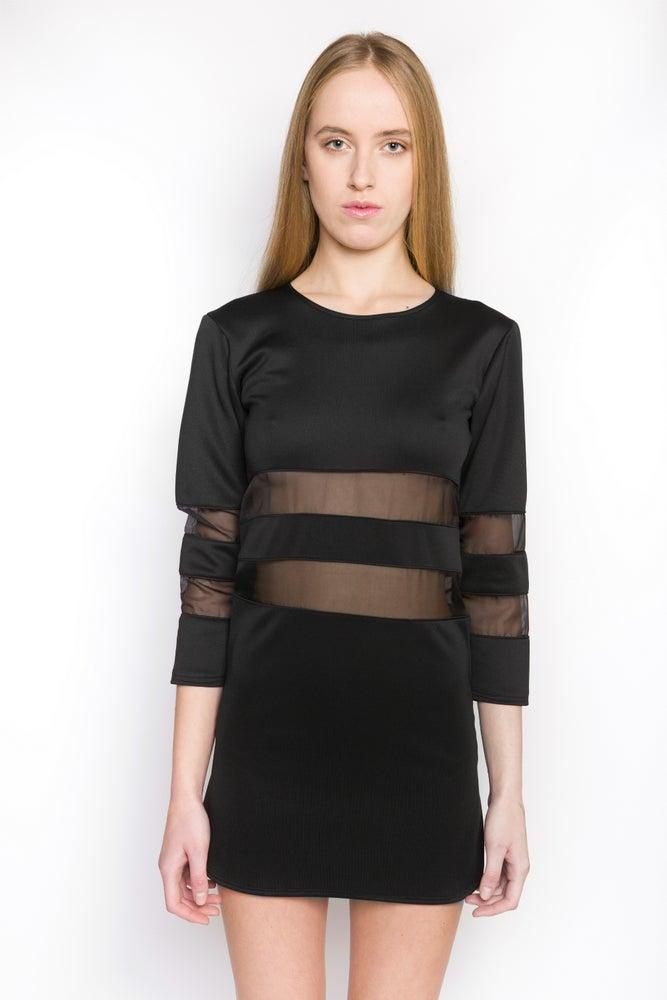 Image of Ⅲ Blackout Parallel Dress