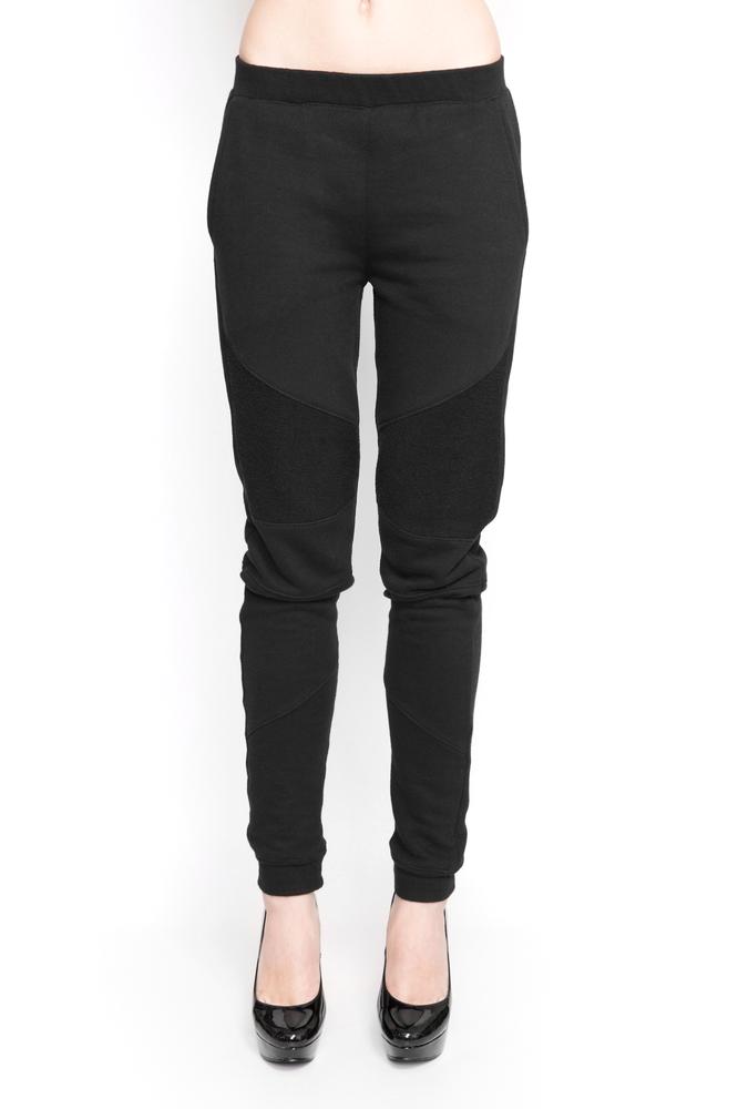 Image of Ⅲ Black Panelled Sweatpants - W