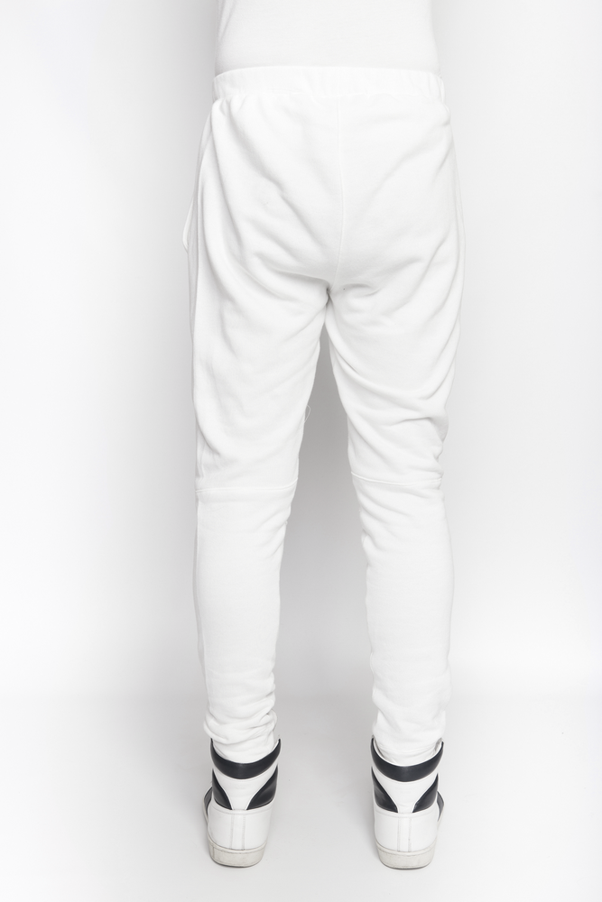 Image of Ⅲ White Panelled Sweatpants - M