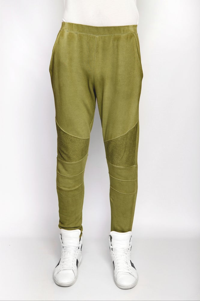 Image of Ⅲ Olive Green Panelled Sweatpants - M