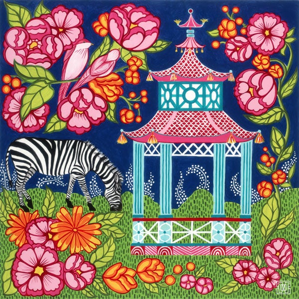 Image of Chinoiserie Garden In Pink Art Print