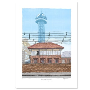 Image of Newcastle Signal Box Digital Print