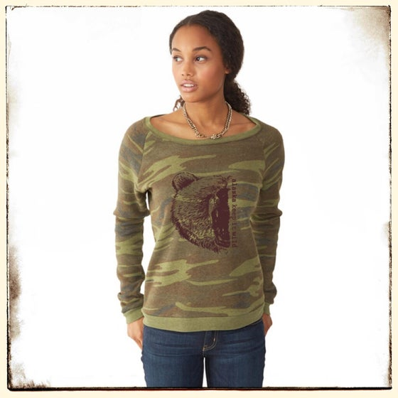 Image of Camo Alaska Grizzly Crew Neck Sweater