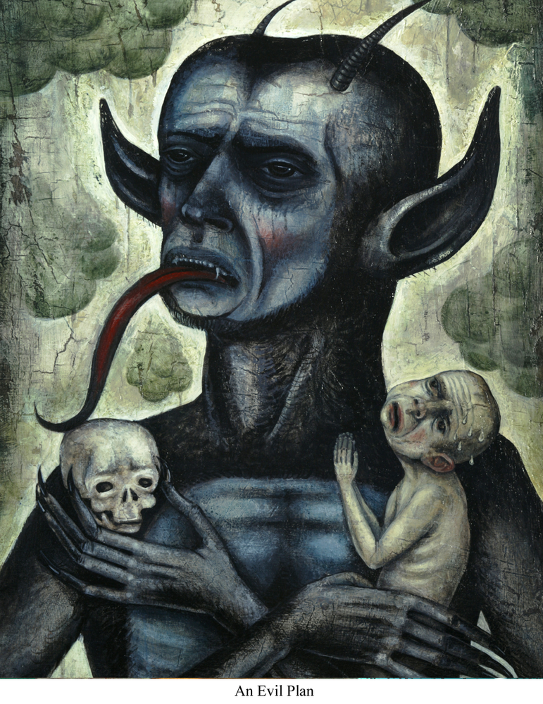 Image of Canvas Giclee- An Evil Plan
