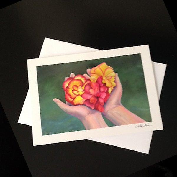 Image of Begonias 5-Pack Greeting Card SEt