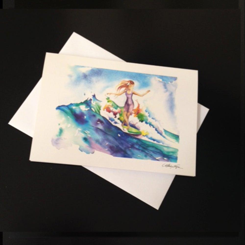 Image of Surfer Girl 5-Set Greeting Card Set
