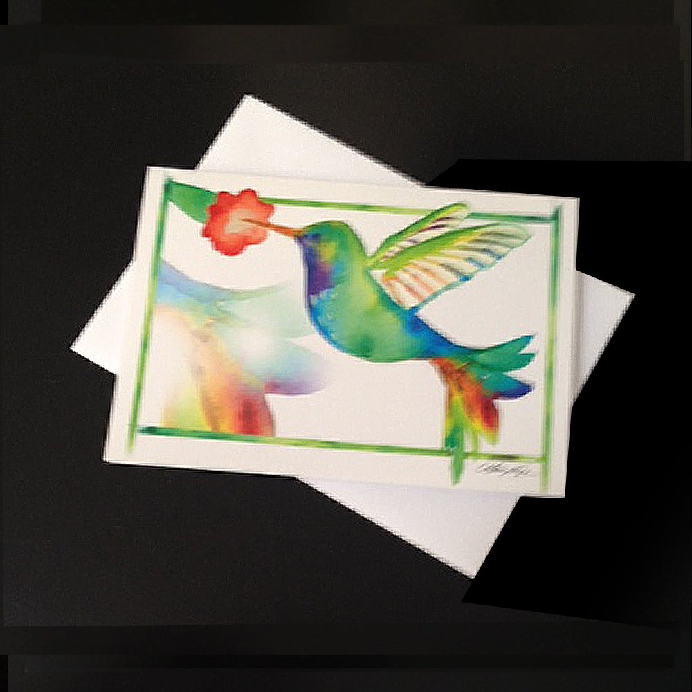 Image of Hummingbird 5-Pack Greeting Card Set