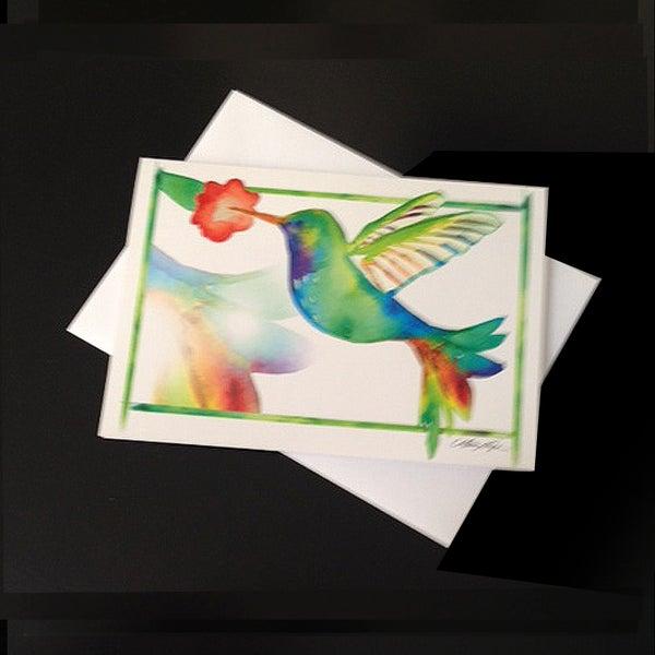 Image of Hummingbird 5-Pack Greeting Card Set