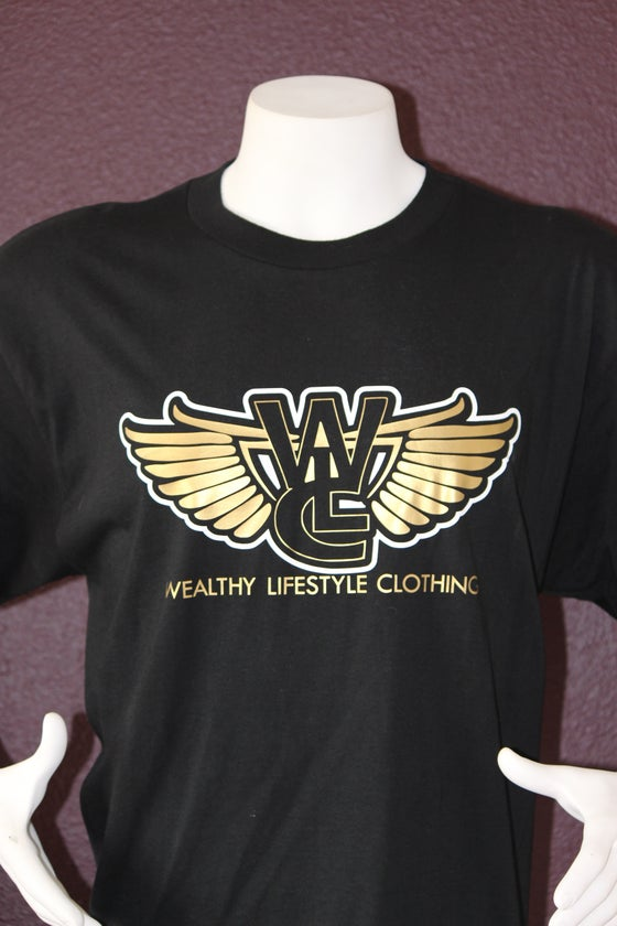 "Image of Wealthy Flagship Tee ""Black / Gold"""