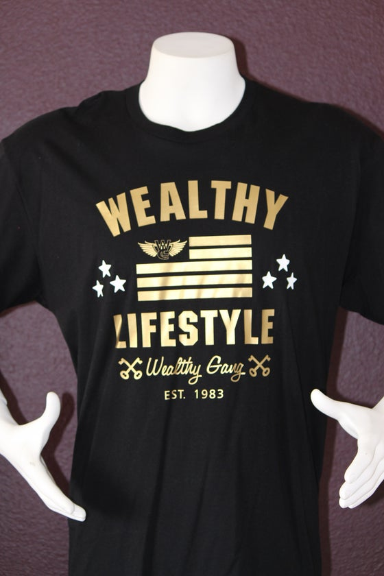 "Image of Wealthy Nation Tee ""Black / Gold"""