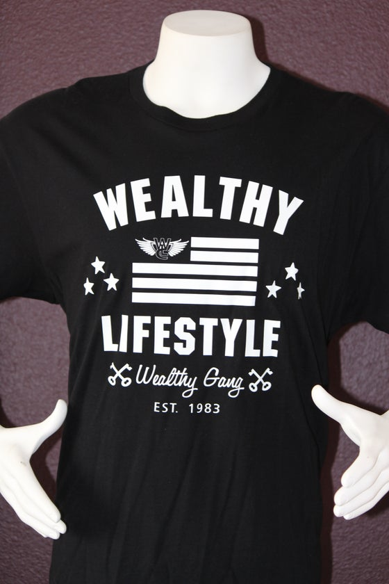 "Image of Wealthy Nation Tee ""Black / White"""