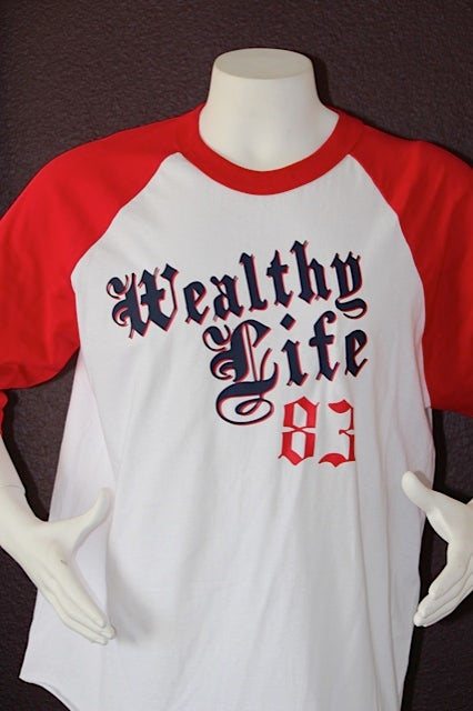 "Image of Legendary Baseball Tee ""Red / White"""