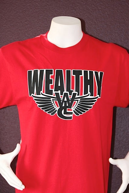 "Image of Wealthy Flight Tee ""Red / Black"""