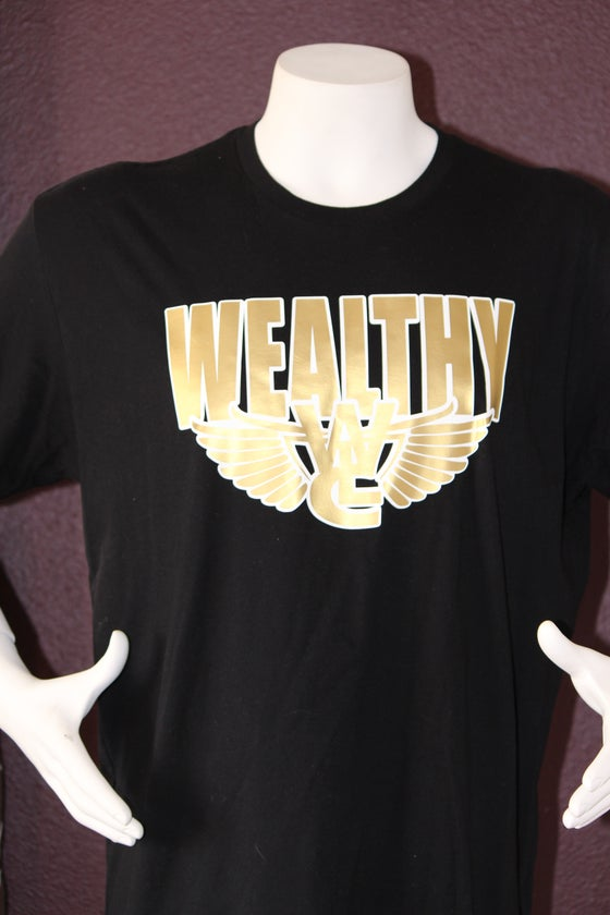 "Image of Wealthy Flight Tee ""Black / Gold"""