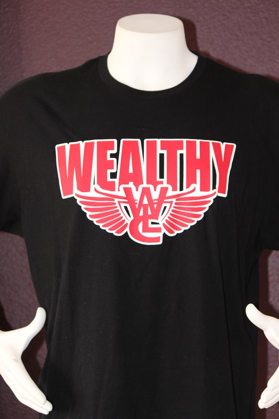 "Image of Wealthy Flight Tee ""Black / Red"""