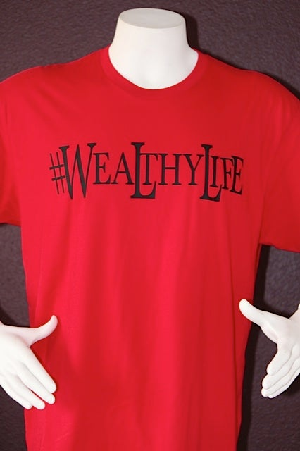 "Image of #Wealthylife Tee ""Red / Black"""
