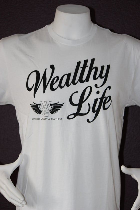 "Image of Wealthy Life Original Tee ""White / Black"""