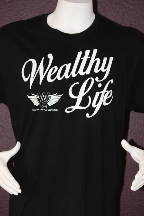 "Image of Wealthy Life Original Tee ""Black / White"""