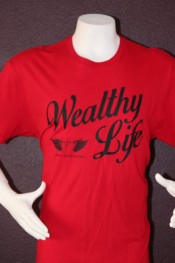 "Image of Wealthy Life Original Tee ""Red / Black"""