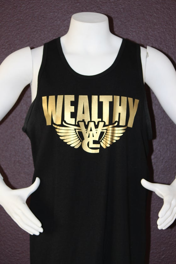 "Image of Wealthy Flight Tank Top ""Black / Gold"""
