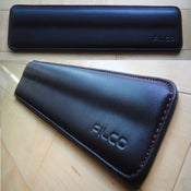 Image of Filco Black Leather/Red Stitch Wrist Rest