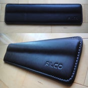 Image of Filco Black Leather/White Stitch Wrist Rest