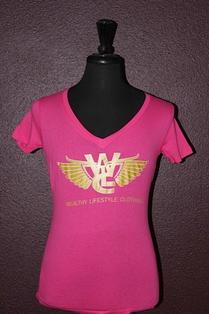 "Image of Women's Flagship Tee ""Pink / Gold"""