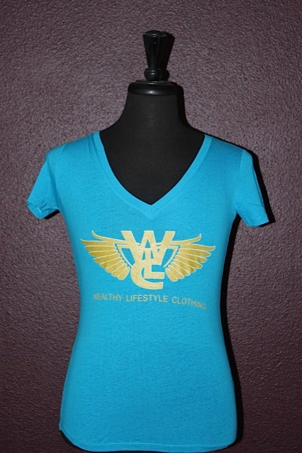 "Image of Women's Flagship Tee ""Teal / Gold"""