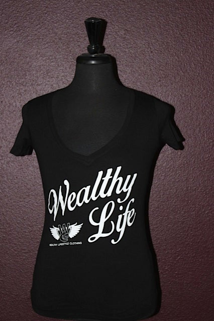 "Image of Women's Wealthy Life Tee ""Black / White"""