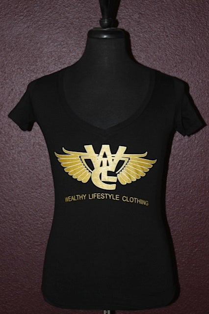"Image of Women's Flagship Tee ""Black / Gold"""