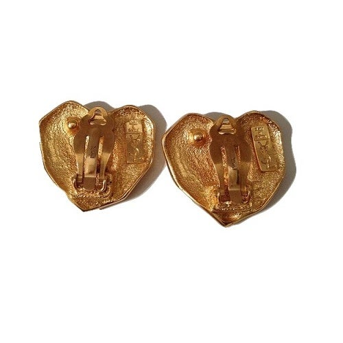Image of SOLD OUT Yves Saint Laurent YSL Authentic Heart Logo Earrings