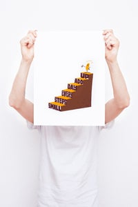 Image of Small Steps Every Day - Framed Screenprint
