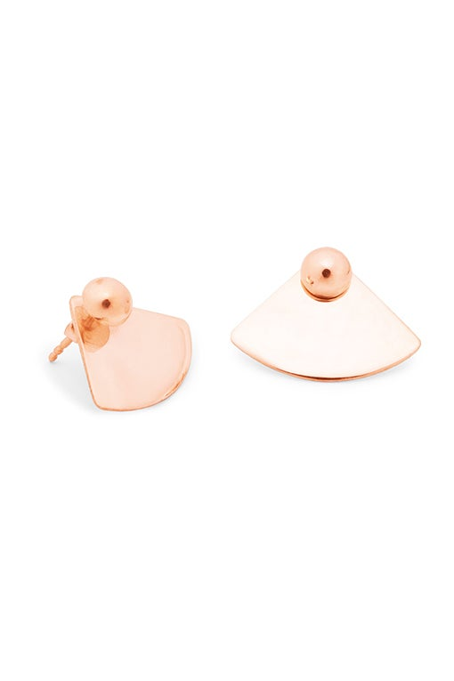 Image of ORB Earrings Quart Pair Gold or Rosé