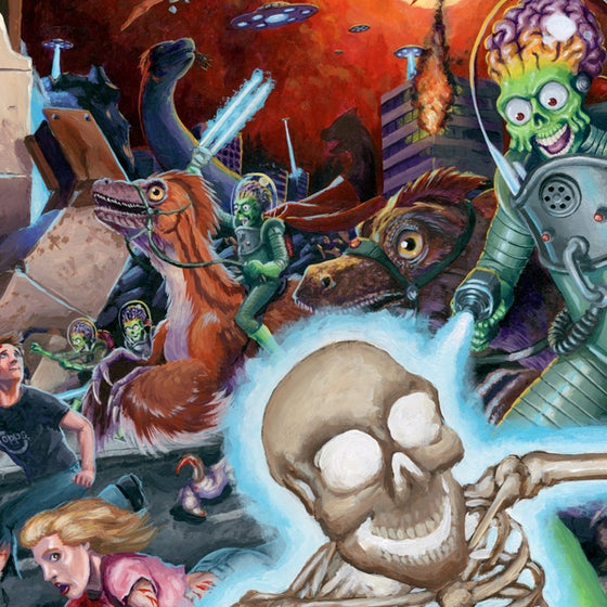Image of Mars Attacks! + Dinosaurs Attack!