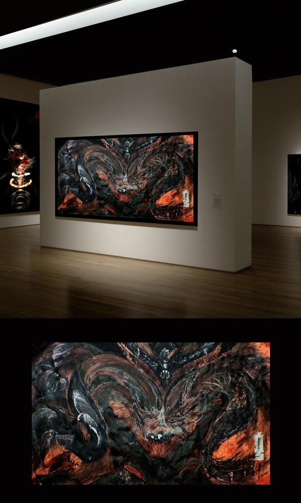 "Image of Original 34x60 Painting by Kasim ""Guillotine"" Gary"