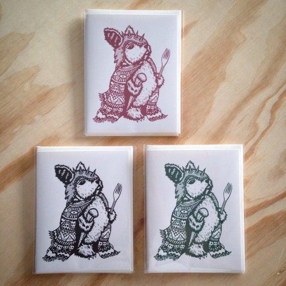 Image of Warrior Rabbit Holiday Card