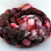Image of Chocolate & Roses - Merino/SW Merino/Silk Wool Top/Roving