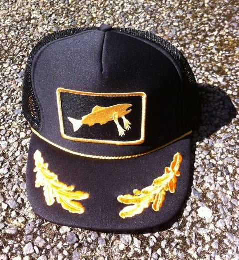 Image of Stealth Society X Salmon Arms CohoLab Hat Naval Trucker RESTOCK!