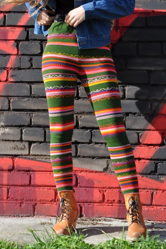 Image of LEGGINGS DARK GREEN