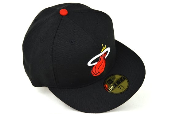 Image of MIAMI HEATS BLACK NEW ERA FITTED CAP