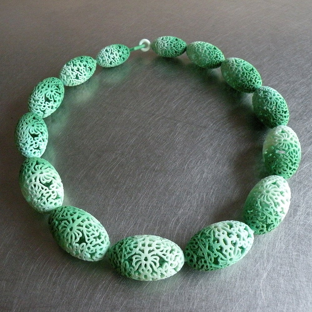Image of 3D printed collier OVAL 2.floral