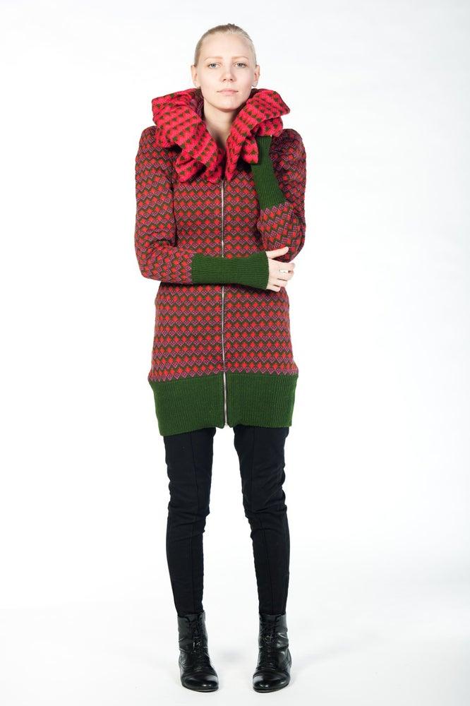 Image of Hoodie TRIINU green-red