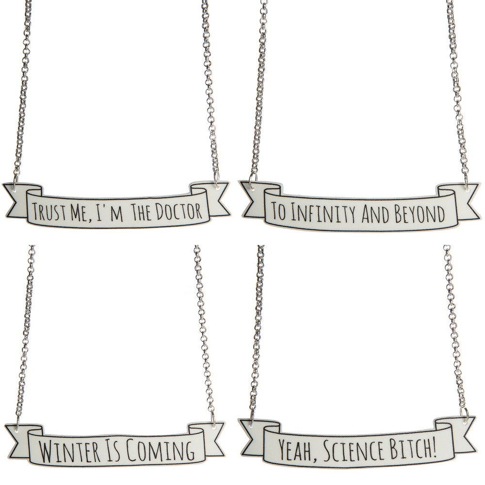 Image of Banner Quote Necklace