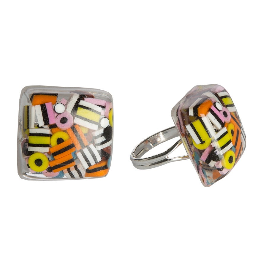 Image of Liquorice Allsorts Resin Ring