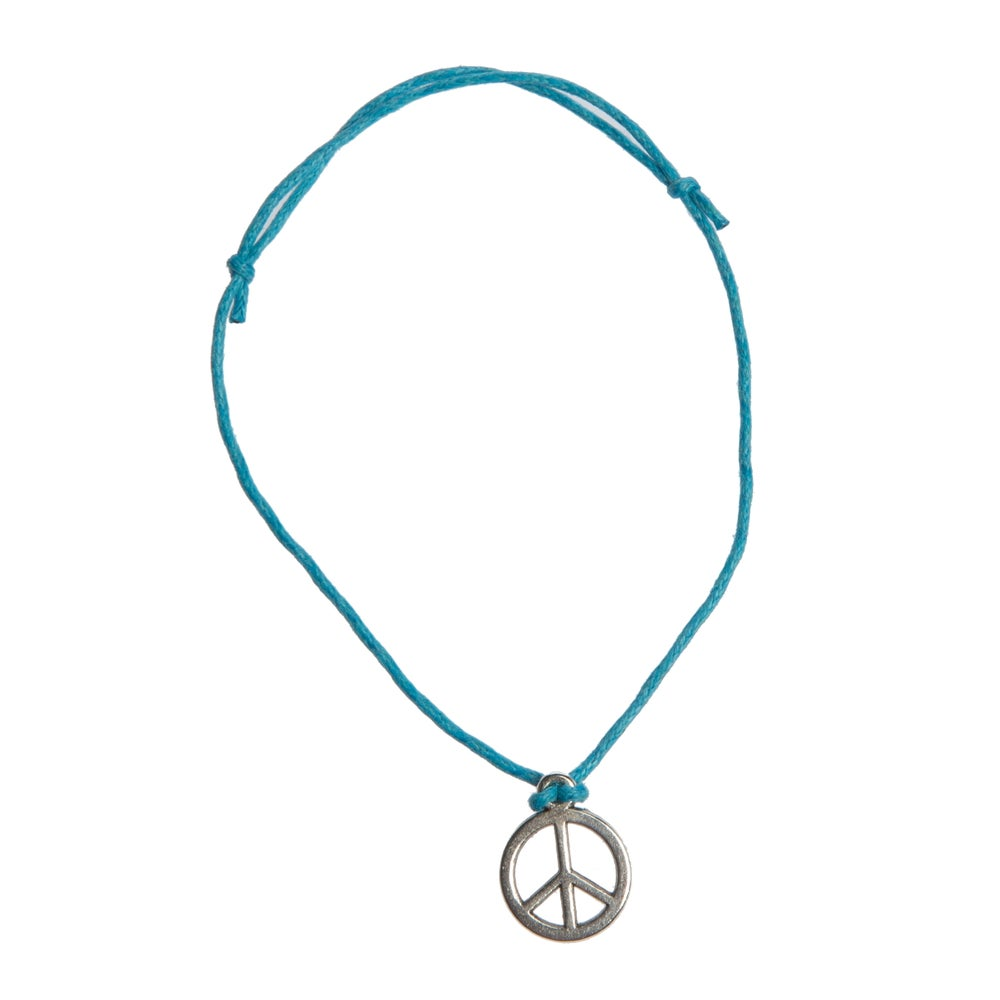 Image of Peace Adjustable Cord Bracelet