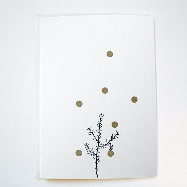 Image of GOLDIE 'SPRUCE' - LETTERPRESS CHRISTMAS CARD