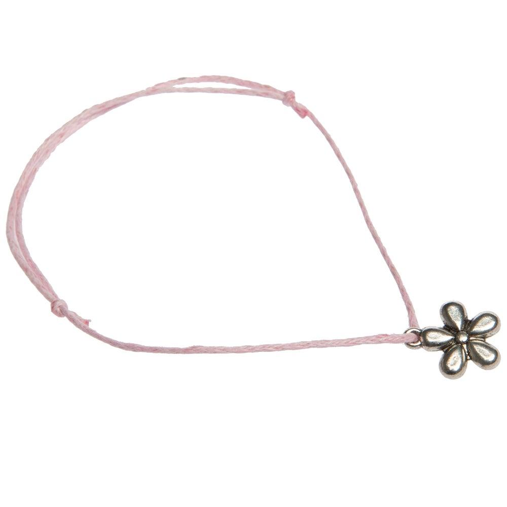 Image of Daisy Adjustable Charm Bracelet